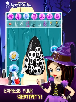 Little Nail Salon For Monsters iPad game