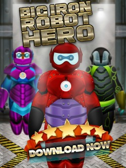 Big Hero 6 Inspired Game - Big Iron Robot Hero for iPhones