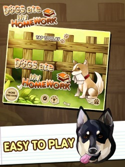Dog Ate My Homework iOS game for iPad, iPhone and iPod