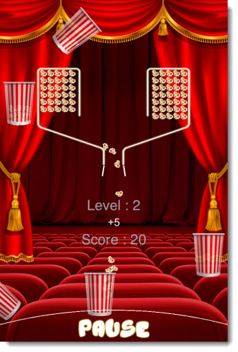 iPhone Game Apps - Popcorn