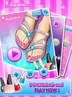 Toe Nail Salon for iPhone