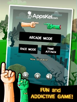 Zombie Hand Swipe iPhone Game