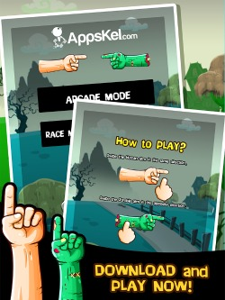 Zombie Hand Swipe iPad Game