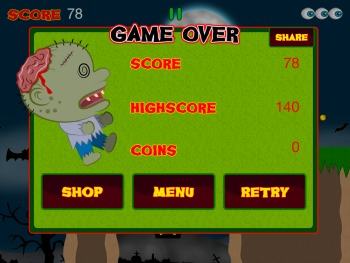 Zombie Games Brains picture iPhone Game