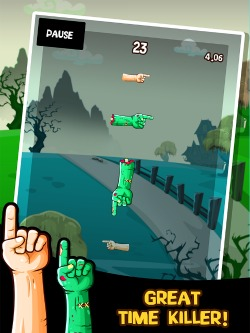 Zombie Hand Swipe iPod Game